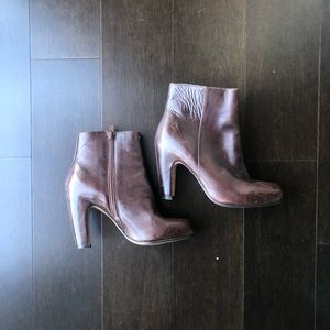 Bronx brown leather bootie